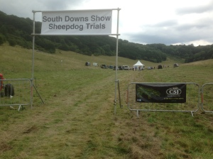 Sheepdog trial entrance (pic taken by Terena)