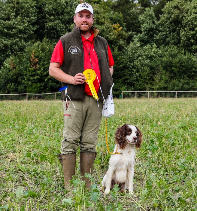 David Williams (Wales) with Sid - 3rd top spaniel