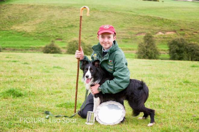 Logan Williams and Ned winning International Young Handler competition 2017
