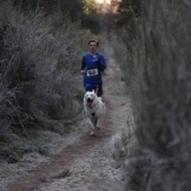 Alan Cameron #PushYourMush Ethan Cameron running with Sam.... Freezing that day...