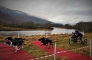 Gilli McLeod #pushyourmush Team Schwartz, coming in over the Finish Line in the Scottish Highlands.