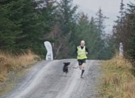 Susie Lee #Pushyourmush Powered by CSJ Fit n Fast.. Guy in full flight at Grizedale with his HuDad