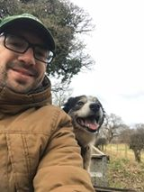 Dennis Kräh - My dog Pippa and me. Loving the job