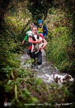 Laura D'Allen Love is- Carrying your dog all the way up a cold muddy stream because he doesn't really like getting wet and realising halfway along he's quite a lot heavier than you thought....
